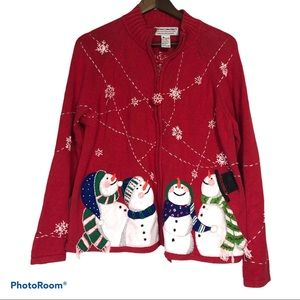 Heirloom Collectibles Snowman Christmas Sweater